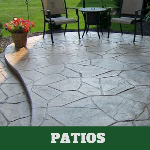 Residential patio in Roanoke, VA with a stamped finish.